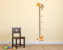 giraffe monkey kids height chart vinyl wall decal by sticker whale jpg v u003d1441095575