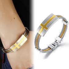 cross bracelet bangles images Bracelet bangle stainless steel rope bracelet charm gold bangle jpg