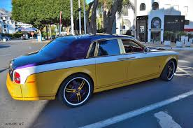 gold phantom car pablo rabiella rolls royce phantom spotted in puerto banus gtspirit