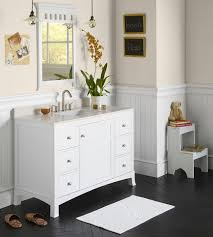 Cottage Bathroom Vanities by These White Bathroom Vanities Are Pure White With Simple Country