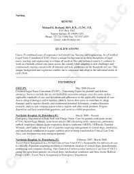 Sample Resume For A Nurse by Pacu Nurse Cover Letter
