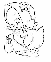 image detail easter coloring pages easter bonnet duck