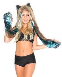 animal hats rave animal hoods furry hoods furry vests iheartraves