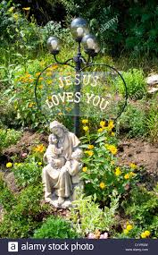 jesus loves you garden statue of jesus holding a child fountain