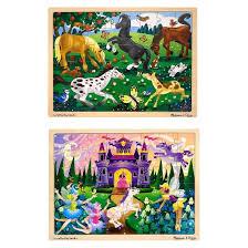 doug wooden jigsaw puzzles set princess castle