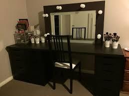 bedroom large black corner bedroom makeup vanity set with