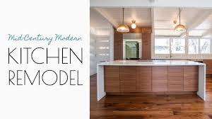 mid century modern walnut kitchen cabinets a mid century modern kitchen
