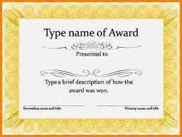 word award template certificates officecom certificates