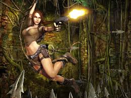 lara croft tomb raider video game wallpaper