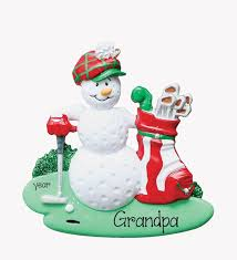 golf my personalized ornaments