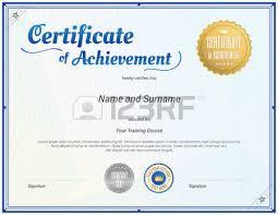 certificate template in vector for achievement graduation