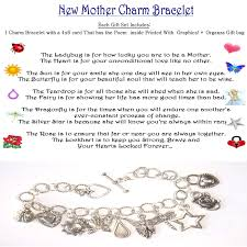 new mother boy or baby shower idea charm bracelet themed poem