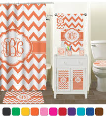 Monogrammed Bathroom Accessories by Amazon Com Chevron Bathroom Accessories Set Personalized Home