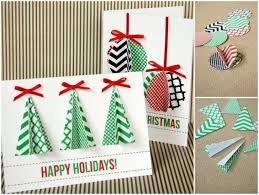 how to 100 easy handmade christmas card tutorials christmas