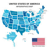 us map w alaska usa map with federal states including alaska and hawaii united