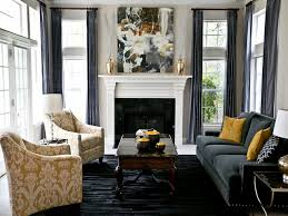 Gray And Yellow Living Room by Modern Decor Accents Charcoal Grey And Yellow Living Room Decor