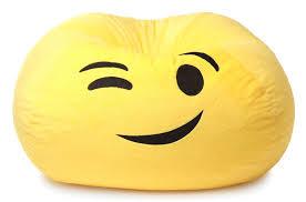 Green Bay Packers Bean Bag Chair Gomoji Emoji Wink Bean Bag Chair Products Pinterest Bean Bag