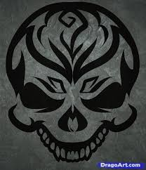 how to draw a tribal skull by tribal pop culture