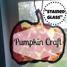 stained glass u201d pumpkin craft