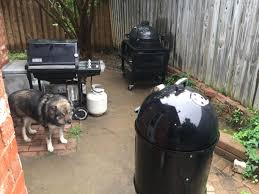 my backyard grilling workstation left weber silver gas grill