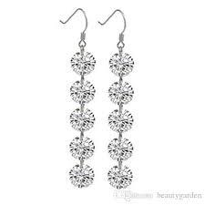 danglers earings stunning earrings danglers silver rhinestone