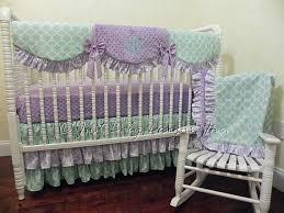 Purple And Aqua Crib Bedding Lavender And Aqua Crib Bedding Set Baby Bedding