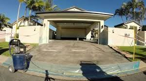 Flo Coat Resurfacer by Envirocoat Concrete Coatings Stencil Crete Time Lapse Youtube