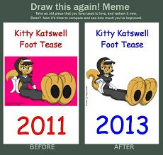 Tease Meme - dta meme kitty katswell foot tease by caseydecker on deviantart