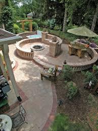 patio landscape design concrete driveway pavers land design mn