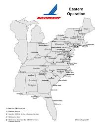 Hawaiian Airlines Route Map by Piedmont Airlines U003e Our Company U003e What We Do U003e Route Map