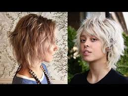 google short shaggy style hair cut 2018 shag haircuts for fine hair long medium and short shaggy