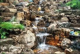 Backyard Waterfall Ideas by Interesting Design Backyard Waterfall Spelndid Backyard Waterfalls