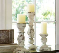 Pottery Barn Pillar Candles Pottery Barn Wood Pillar Candle Holders Love The 3 Different