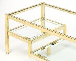 coffee table mastercraft brass and glass coffee table at 1stdibs