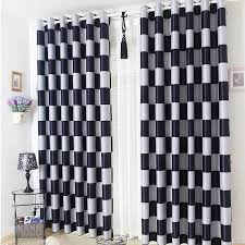 Plaid Blackout Curtains Brief Light Grey And Black Coffee Plaid Blackout Sheer Window