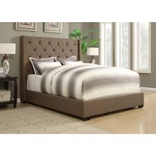 zinus taupe full upholstered bed hd flpb f the home depot shelter taupe queen upholstered bed