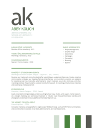 branding resume great use of initials as a bold statement on the top of the resume