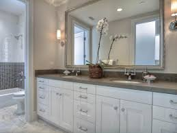 Gray And White Bathroom Ideas Bathroom Appealing Gray Bathroom With White Wood Vanity And Wall