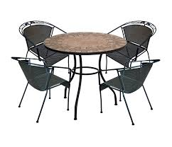 Black Bistro Chairs Dining Room Brown Mosaic Bistro Table With Black Legs With Chairs