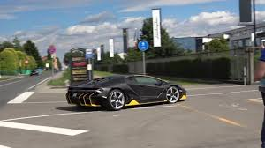lamborghini centenario back lamborghini centenario driving acceleration on public roads