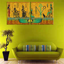 online get cheap egyptian wall decor aliexpress com alibaba group 2 piece egyptian decor modern abstract canvas painting decorative picture wall art canvas print china