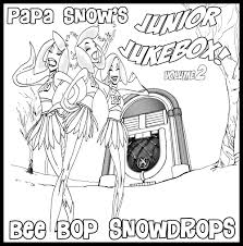 printable coloring pages papa snow music