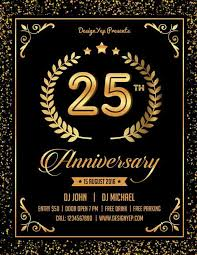 free anniversary party flyer psd template download for photoshop