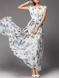 white sleeveless floral maxi dress stylewe com