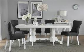 White Dining Table With Black Chairs Kitchen Table Chairs Kitchen Table Sets Furniture Choice
