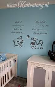 woezel en pip babykamer muurstickers kinderkamer zwart wit grijs woezel en pip muurschildering babykamer