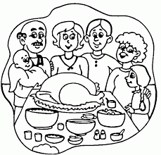 thanksgiving dinner coloring pages coloring home