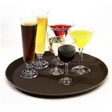 lade di vetro plateau de service bar restaurant ronde couverts bois bestek lade