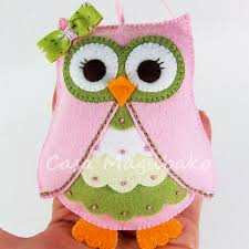 felt owl ornament or embellishment pattern pdf file owl