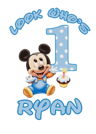 free mickey mouse birthday clipart image 8253 mickey mouse baby